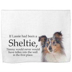 Timmy's Blue Merle Sheltie Kitchen Towel - blue gifts style giftidea diy cyo