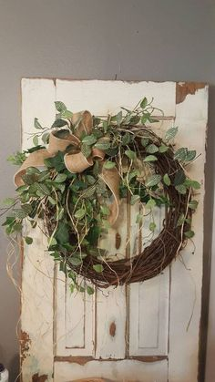 BEST SELLER Front door wreath Greenery Wreath by FarmHouseFloraLs