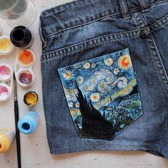 'Starry Night', Vincent van Gogh / art by @albaricoque_agc