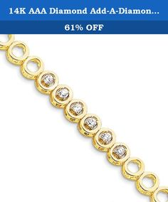 14K AAA Diamond Add-A-Diamond Bracelet - X856AAA. A stunning 14k aaa diamond add-a-diamond bracelet. This 14k yellow gold add-a-diamond bracelets is a great addition to your jewelry collection. Please allow 5-10 business days for items to be created and prepared for shipping.