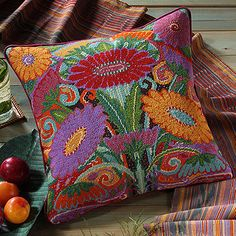 Fleurs--Ehrman needlepoint pillow