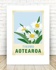 print – New Zealand native flower series. Perfect gift for any occasion. Reproduced digitally on Mohawk Felt Maori Words, Flax Weaving, Best Pickles, Kiwiana, Local Artists, Paper Texture, Christmas Tree Decorations, New Zealand, Nativity