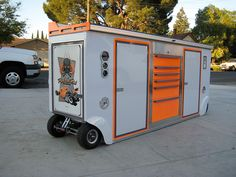 Matco Tool Box, Garage Tool Storage, Garage Tools, Custom Tool Boxes, Mechanic Tool Box, Work Trailer, Mobile Workshop, Mobile Workbench, Tool Cart