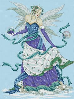 Fantasy Cross Stitch, Cross Stitch Fairy, Cross Stitch Angels, Cross Stitch Designs, Cross Stitch Patterns, Cross Stitching, Cross Stitch Embroidery, Cross Stitch Pictures, Ancient Egyptian Art