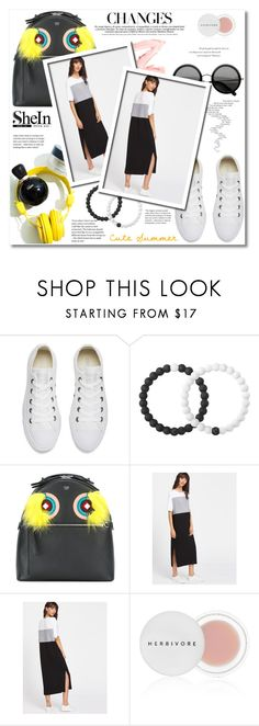 """""""Shein - Color Block Slit Side Tee Dress"""" by zulaltprk ❤ liked on Polyvore featuring Converse, Lokai, Fendi, Herbivore and Balenciaga"""