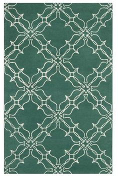 Work the 2013 PANTONE® Color of the Year into your decor with this emerald area rug from Home Decorators Collection. It's 100% New Zealand wool and comes in a variety of sizes so you can cover a whole room or a small area.