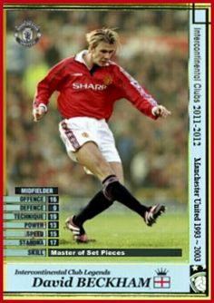 Intercontinental Club Legends card - David Beckham of Man Utd.