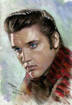 Beautiful portrait of Elvis