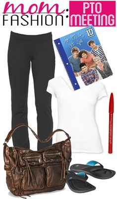 5 hilarious must-see Pinterest-Ready Fashion Layouts for Moms! motherhood | style | humor | yoga pants outfit