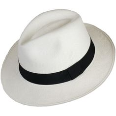 19bb7d41181 White Fedora Panama Hat ( 60) ❤ liked on Polyvore featuring accessories