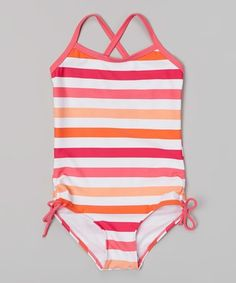 f37e1ab690989 Take a look at the Kanu Surf Pink & Orange Sassy One-Piece - Infant,  Toddler & Girls on today!