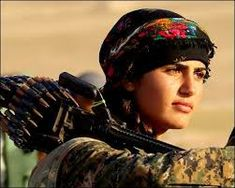 Image result for yazidi female fighter