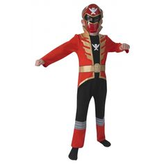 Rood Power Ranger kostuum voor kinderen. Dit rode Power Ranger kostuum voor kinderen bestaat uit een jumpsuit en een masker. Carnavalskleding 2015