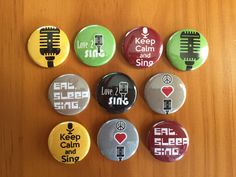 Music Band Pinback Buttons Set of 10 Music by MyButtonMonster