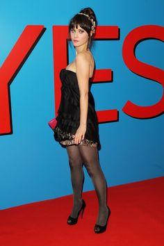 Hot Celebrities in Pantyhose Series - Zooey Deschanel - #hosiery