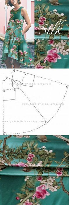 Sewing Dresses How to sew umbrella dress Easy DIY Dress pattern Free PDF Dress Sewing Patterns, Fabric Patterns, Clothing Patterns, Pattern Sewing, Easy Dress Pattern, Shirt Patterns, Pants Pattern, Fashion Sewing, Diy Fashion