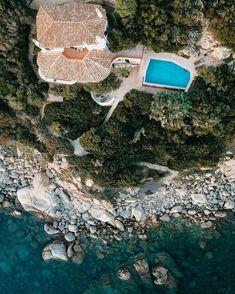 Aerial shot in Sardinia, Italy // Aerial Photography, Landscape Photography, Travel Photography, Italy Vacation, Italy Travel, Dji Spark, Summer Vibes, Seaside, Sardinia Italy