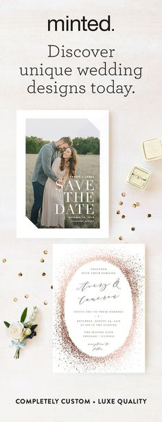 Shop truly unique wedding invitations from independent artists. Personalize and preview today!
