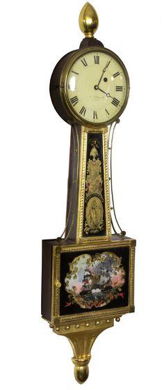 SWC-Federal Gilt Banjo Clock, Aaron Willard, Boston, c. 1820