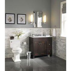 Guest bathroom Asher and roth Palencia Espresso Contemporary Bathroom Vanity Contemporary Bathroom, Contemporary Bathroom Vanity, Lowes Bathroom, Neutral Bathroom Tile, Brown Bathroom, Contemporary Bathroom Designs, Bathrooms Remodel, Bathroom Design, Bathroom Decor