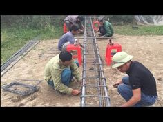 Amazing Primitive Technology - How To Building And Setup Concrete Platforms For Homes - YouTube