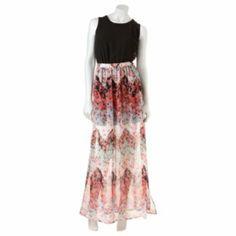 ca6ff963e6b HeartSoul Floral Chiffon Maxi Dress - Juniors Junior Maxi Dresses