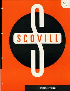 Cover design by Ladislav Sutnar (1897-1976), 1943, Scovill Condenser Tubes (English).