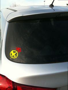 Hunger Games Mockingjay & Knife HG inspired vinyl by NoBubbles, $4.00