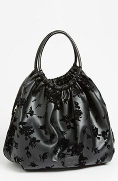 RED Valentino Flocked Faux Leather Hobo available at #Nordstrom