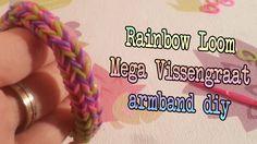 Diy Mega Vissengraat Rainbow Loom Nederlandse How to