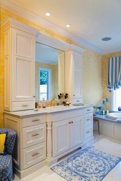Custom Bathroom Vanities With Towers i like the side cabinets - nice alternative to a medicine cabinet