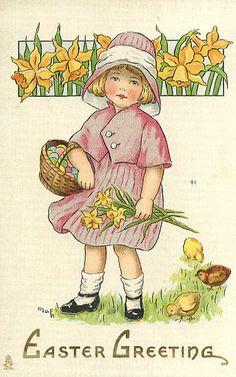 Vintage Easter Greeting Card – Vintage Images Download