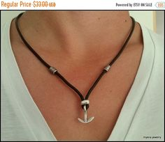 FREE SHIPPING Anchor necklace for men, Men's sailors anchor jewelry, sailor's leather necklace, unique gift for him, alternative gifts for m by MyERA4u on Etsy https://www.etsy.com/listing/241915936/free-shipping-anchor-necklace-for-men