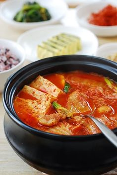 Kimchi JJigae (Kimchi Stew) - Korean Bapsang Pork Belly and Kimchi are meant for each other.
