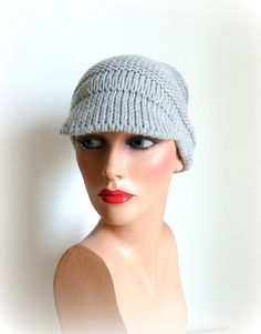 SALE Grey Knit Hat  Womens Hat in Light grey  by InkaBoutique, $25.00