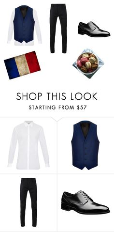 """""""France #24"""" by kreepykitten on Polyvore featuring Burberry, River Island, Haider Ackermann, men's fashion and menswear"""