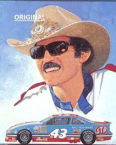 Nascar Race Cars, Old Race Cars, Richard Petty, King Richard, Nascar Champions, Canvas Patterns, Counted Cross Stitch Patterns, Fast Cars, Cross Stitching