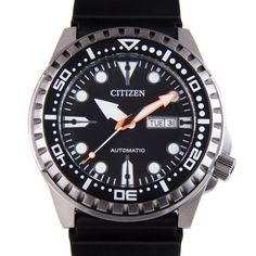 Men's Citizen Automatic Black Diver's Watch in Jewelry & Watches, Watches, Parts & Accessories, Wristwatches Sport Watches, Cool Watches, Watches For Men, Citizen Watches, Black Rubber Bands, Affordable Watches, Swiss Army Watches, Rubber Watches, Black Stainless Steel