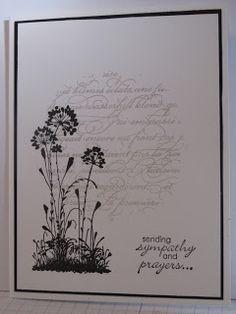 Serene Silhouettes Sympathy card