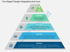 cf five staged triangle infographics and icons flat powerpoint design Slide01