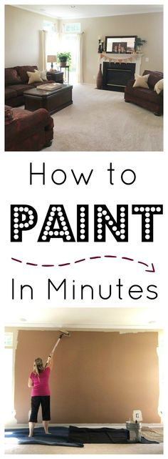 how to paint a room before and after how to paint in minutes on http://www.sugarbananas.com with sherwin williams and wagner smart paint roller
