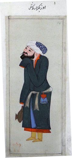 Özbek Dervish, 1620, Turkey, British Library