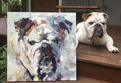 Pet Portraits • Dog Portraits • impressionistic oil paintings by Alabama artist Gina Brown, www.GinaBrownArt.com