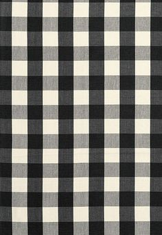 Schumacher's Camden Cotton Check in Ebony.