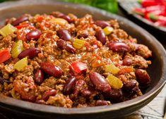 Crock Pot Recipes, Pastas Recipes, Healthy Crockpot Recipes, Healthy Dinner Recipes, Healthy Snacks, Healthy Chili, Eating Healthy, Cooking Recipes, Beef Chili Recipe