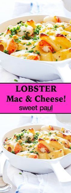 I make my mac & cheese FABULOUS by using cheddar & gruyère cheeses and decadent LOBSTER!