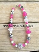 Bling & zebra! #zebra #pink #crystal #necklace #fashion #jewelry #cowtownchic