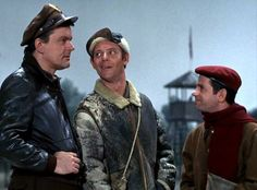 Colonel Hogan, Sergeant Carter, and Corporal LeBeau