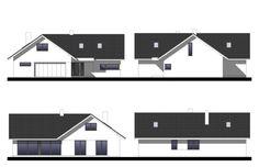 Projekt domu Klimek 2 135.62 m² - Domowe Klimaty Bungalow House Plans, House Entrance, Ground Floor, Flooring, How To Plan, Interior Design, Projects, Bungalows, Case