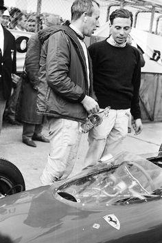 John Surtees and Jim Clark. Germany, 1963.